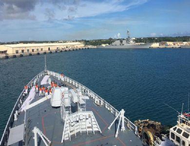 Indian Navy Ships Shivalik and Kadmatt Arrive at Guam to participate in Multilateral Maritime Ex Malabar